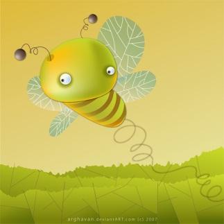 funny bee albina haioasa amuzanta